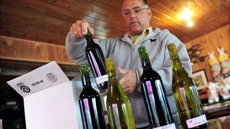 Steve Gallagher of the Whisper Vineyard in St.