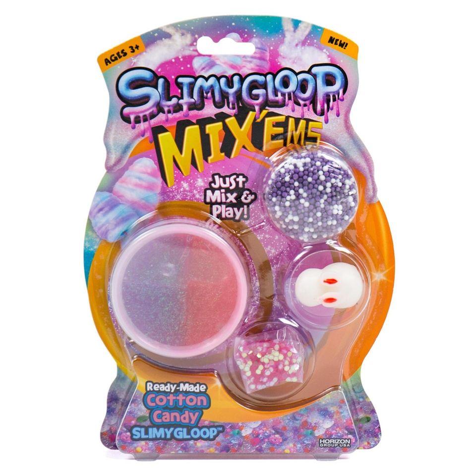 Transform slime by folding in Styrofoam balls, hexagon