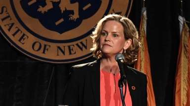 Nassau Executive Laura Curran delivers the State of
