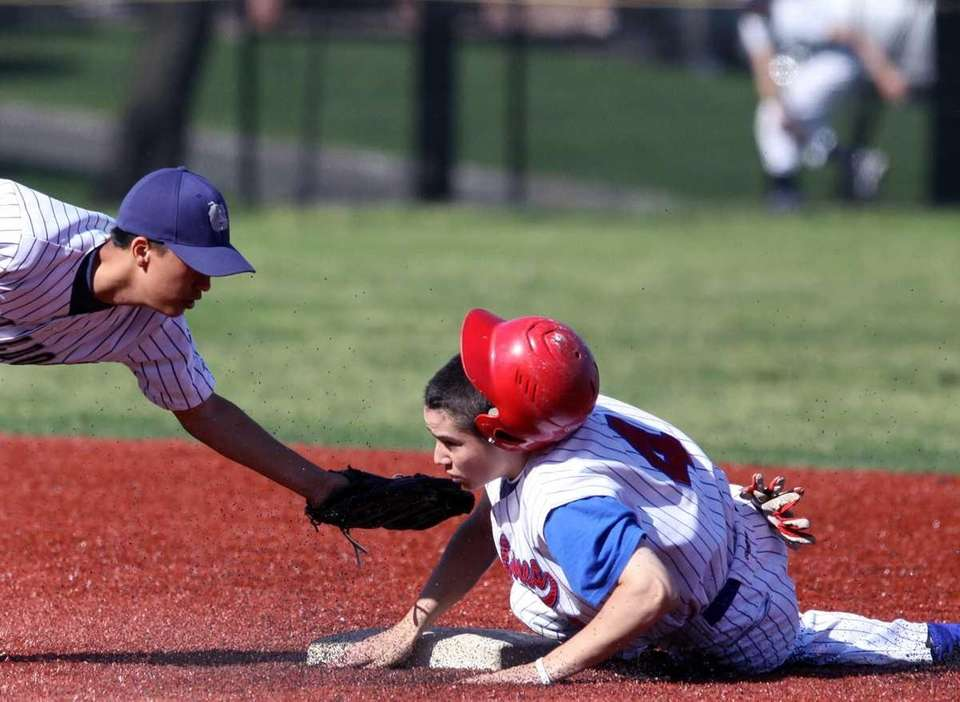 South Side's Thomas Kane steals second during his