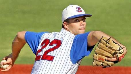South Side's Christian Colletti delivers a pitch during