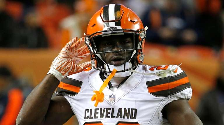 Former Browns safety Jabrill Peppers, now a Giant,