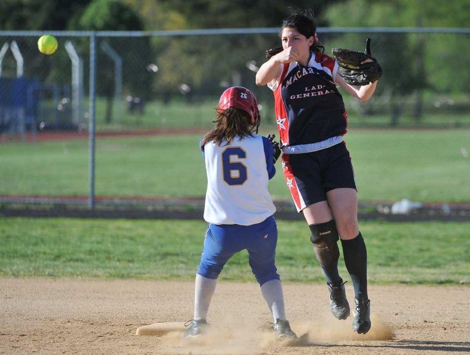 MacArthur shortstop Jena Cozza forces out East Meadow's