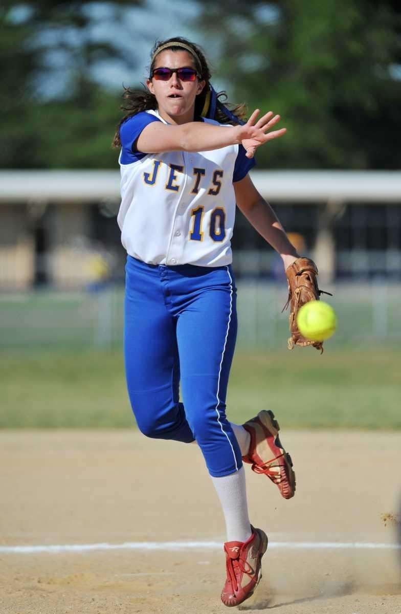 East Meadow's Amanda Carlin delivers a pitch against
