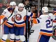 Islanders right wing Jordan Eberle (7) celebrates his