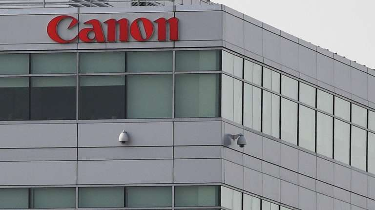 Canon's headquarters in Melville seen on March 8.