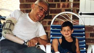 Undated photo of Ralph Marino with his grandson
