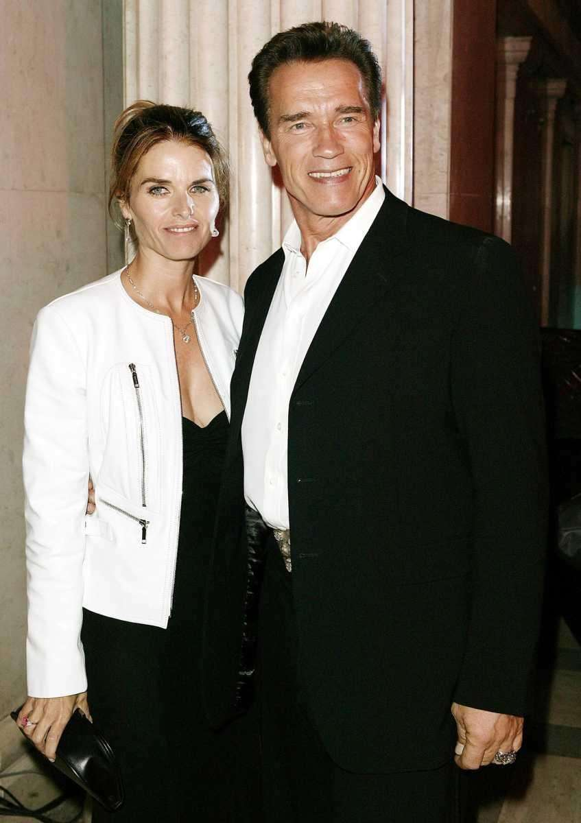 Maria Shriver and Arnold Schwarzenegger attend the party