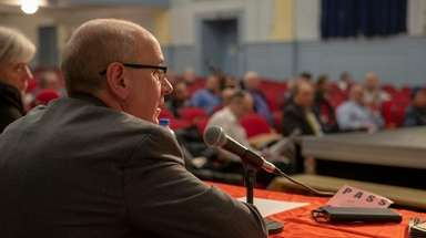 Nassau County Assessor David Moog speaks during a