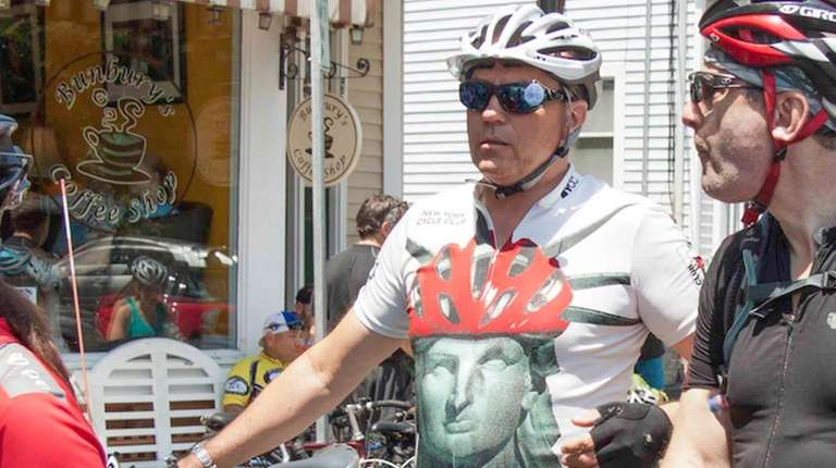 Cyclist David Schlichting, 66, of Great Neck is