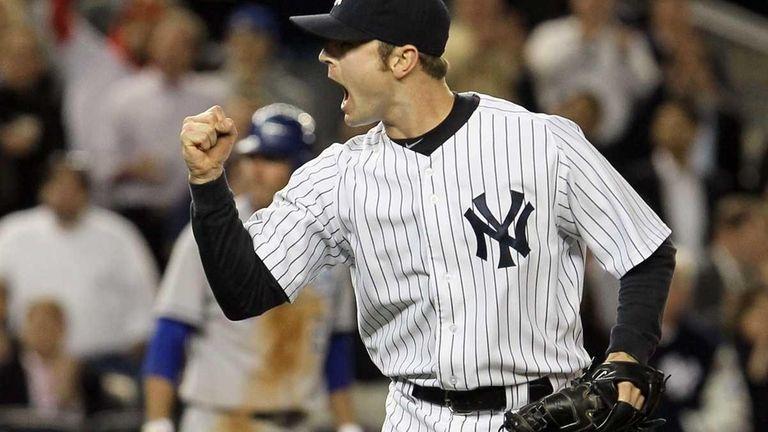 David Robertson #30 of the New York Yankees