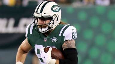 Jets tight end Eric Tomlinson against the Houston