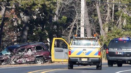 The scene of Tuesday morning's fatal crash on