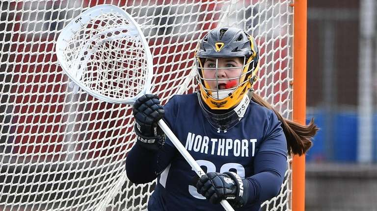 Northport goalie Claire Morris protects the net against