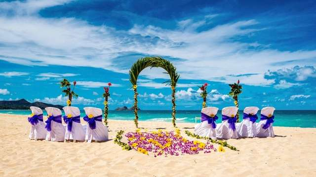 The site of an upcoming wedding ceremony on