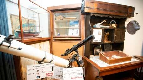 The museum room at Custer Institute and Observatory