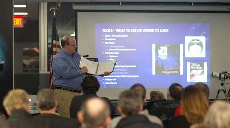Ed Anderson gives a lecture at a February