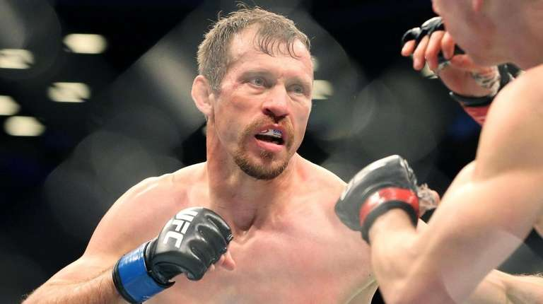 Donald Cerrone fights Alexander Hernandez during UFC Brooklyn