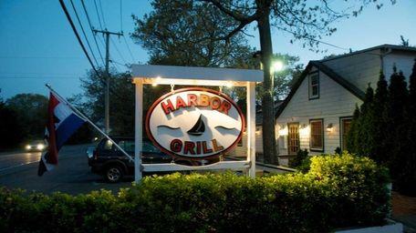 Harbor Grill restaurant is on Three Mile Harbor