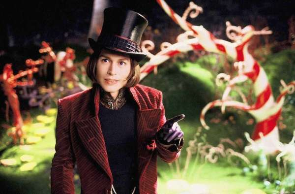 "Willy Wonka, ""Charlie and the Chocolate Factory"" (2005):"