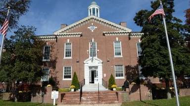 A view of Islip Town Hall located on