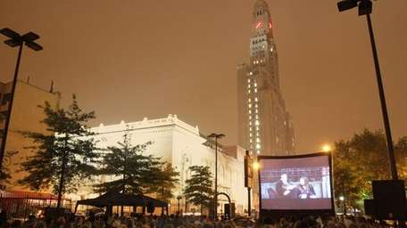 A screening from 2010 of the Rooftop Film