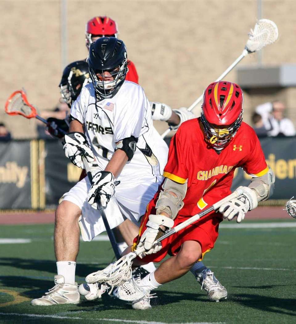 Chaminade's Ryan Lukacovic gets in front of St.