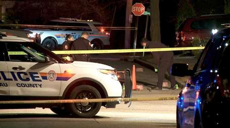 Nassau County police investigate a shooting on Executive