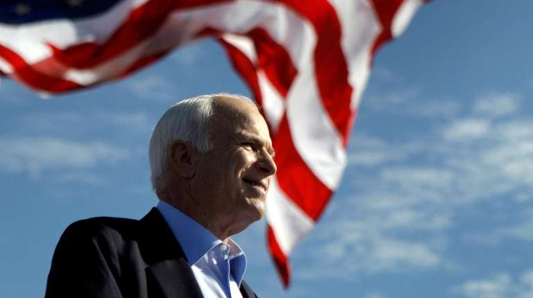 Then-Republican presidential candidate Sen. John McCain (R-Ariz.) speaks