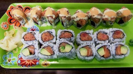 Maki rolls at Yume Sushi Cafe, Deer Park