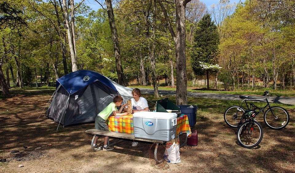The camp grounds at Wildwood State Park in