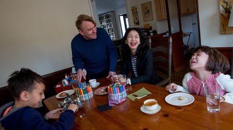 The White family in their Garden City home,