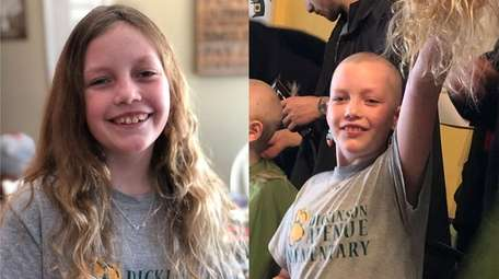 Kaitlyn Konop, 10, shaved her head for the