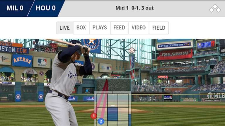Users can watch the Major League Baseball Game