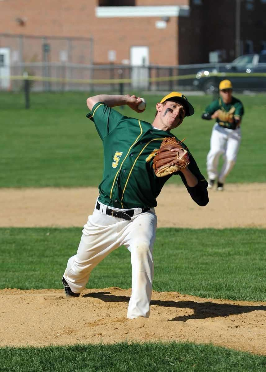 Ward Melville's Perkins delivers from the mound in