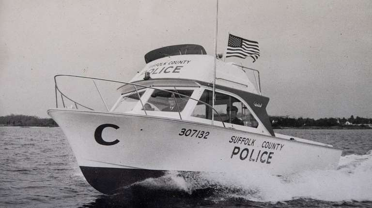 This is a 1970s Suffolk County Police boat