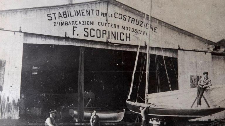 The original Scopinich boatyard had its start on
