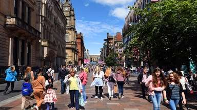 Buchanan Street is the heart of modern, commercial