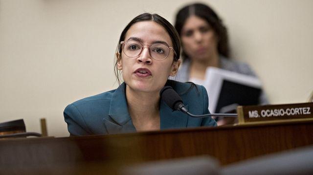 Rep. Alexandria Ocasio-Cortez, D-N.Y., questions Tim Sloan, president