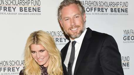 Jessica Simpson and husband Eric Johnson attend the