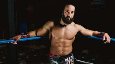 Professional wrestler, Tony Nese, at the New York