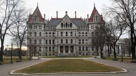 A view of the State Capitol in Albany