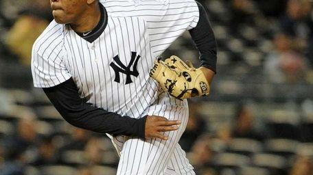 Yankees pitcher Amauri Sanit made his big-league debut