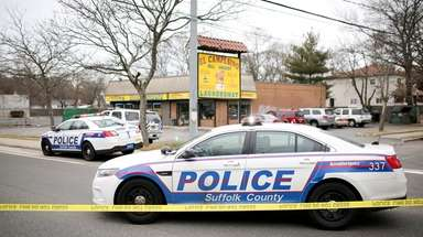 Suffolk police investigate a shooting at 133 Caleb's