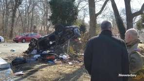 Suffolk police said a two-vehicle crash left a