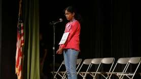 On Wednesday night Bhavana Madini, a fifth-grader from Plainview-Old