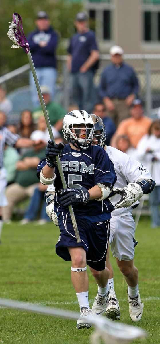 ESM defenseman Derek Sganga #5 moves the ball