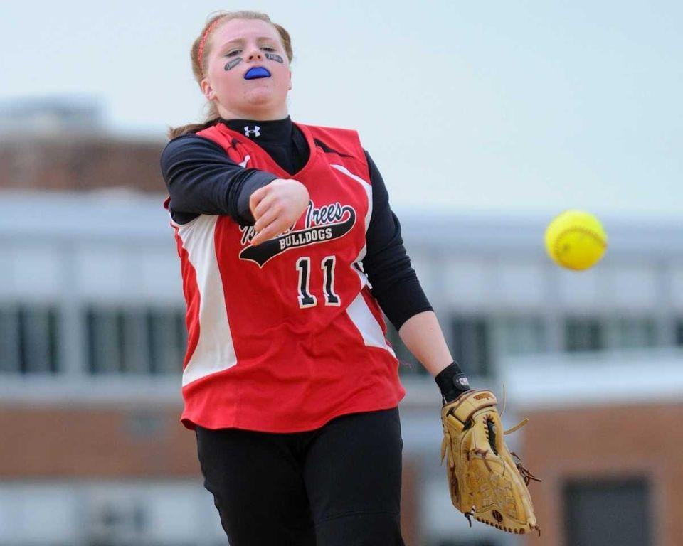 Island Trees High School pitcher #11 Taylor Tedeschi