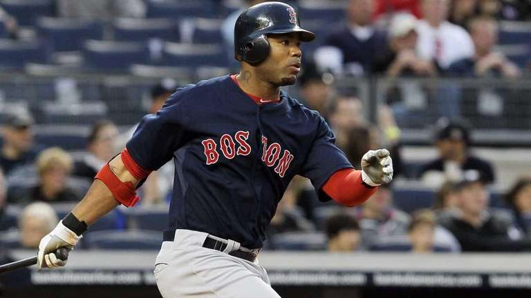 Carl Crawford #13 of the Boston Red Sox