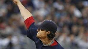Boston Red Sox's Clay Buchholz delivers a pitch